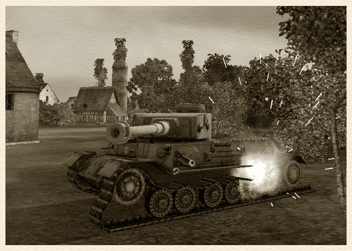 "PzKpfw VI Tiger (P), карта ""Утёс""."