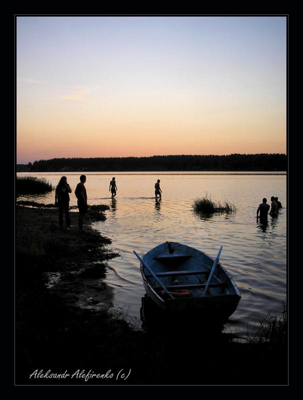 Закат на озере Гать