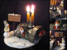 С наступающим Новым Годом, товарищи танкисты! Конкурс новогоднего танкового подсвечника.